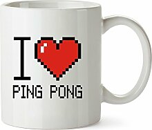Idakoos I love Ping Pong pixelated - Hobbies -