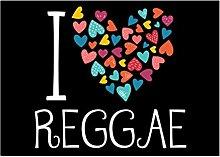 Idakoos I love Reggae colorful hearts - Musik -