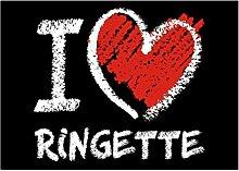 Idakoos I love Ringette chalk style - Sport -