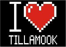 Idakoos I love Tillamook pixelated - Sprachen -