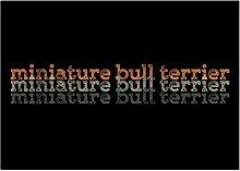Idakoos Miniature Bull Terrier repeat retro -