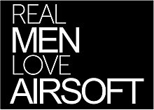 Idakoos Real men love Airsoft - Sport - Aufkleber