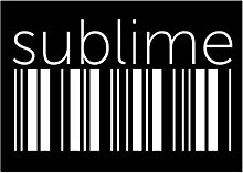 Idakoos sublime barcode - Adjektive - Aufkleber