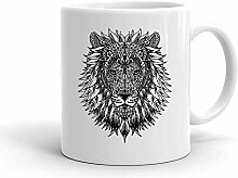 IDcommerce Beautiful Detailed Lion Tattoo Weißer