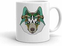 IDcommerce Colorful Ethnic Wolf Weißer