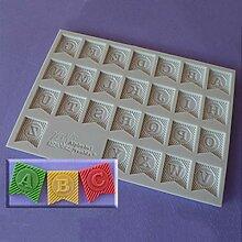 Idea Silikonform Buchstaben, Buchstaben, Alphabet,