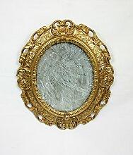 Ideacasa Spiegel Gold Spiegel Goldener Rahmen oval