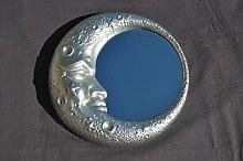 Ideacasa Spiegel Mond Silber Spiegel Silber Barock