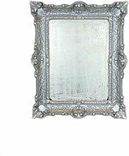 Ideacasa Spiegel Wandspiegel Silber barock