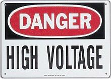 Ideal 44–863Sicherheit Zeichen in. Gefahr Hohe Spannung in, selbstklebend, Polyester, 7in. x 10in,