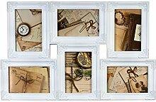 Ideal Antik Bilderrahmen für 6 Fotos in 10x15 cm