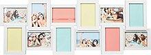 Ideal Gallery Bilderrahmen in Weiß für 12 Fotos