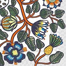 16 St/ück 3-lagig Michel Design Works Papierservietten Vogelnest