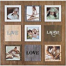 Ideal Laugh Love Live Bilderrahmen für 6 Fotos in