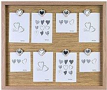Ideal Love Bilderrahmen in Braun Natur für 8