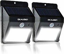 Idealeben 2er Pack 8 LED Kabellose Außenleuchte /