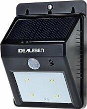 IDEALEBEN 4 LED Kabellose Außenleuchte /