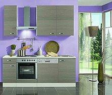 idealShopping Küchenblock ohne Elektrogeräte Vigo in Pinie Nachbildung 210 cm brei