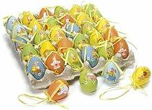 Idee Dekoration Ostern, Eier 60, Eier Ostern verziert zum Aufhängen, Ostereier, Oster-Deko