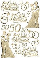 Ideen mit Herz 3-D Sticker Deluxe, zur Hochzeit,