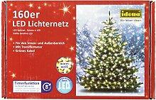 Idena 8325069 - LED Lichternetz mit Timerfunktion, 160er warm weiß, für außen