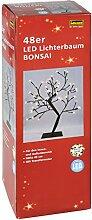 Idena 8582086 - Lichterbaum Bonsai mit 48 warm weißen LED, ca. 45 cm, für außen