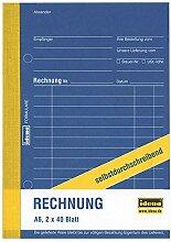 idena _ Rechnungsbuch DIN A6 _ 2x 40 Blatt _