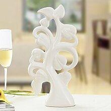 Ider modernen Wohnungseinrichtung kreative Verzierungen Keramik Kunsthandwerk TV-schrank Ornamenten reiche Baum Blätter, weiße
