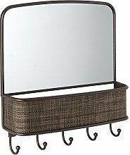 iDesign 95930EU Twillo Wandmontierter Spiegel und