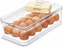 iDesign Aufbewahrungsbox für 18 Eier, stapelbare