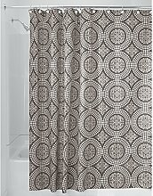 iDesign Medallion Textil Duschvorhang   180 cm x