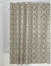 iDesign Medallion Textil Duschvorhang | 183 cm x