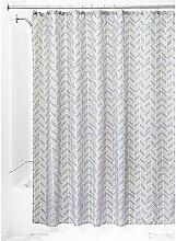 iDesign Nora Textil Duschvorhang | Duschabtrennung