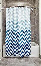 iDesign Ombre Chevron Textil Duschvorhang | 183 cm