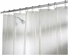 iDesign Rain PVC-freier EVA Duschvorhang, 183 x