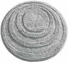 iDesign Spa Mikrofaser-Duschvorleger, rund, für