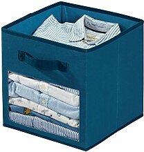 iDesign Stoffbox, kleine Aufbewahrungsbox aus