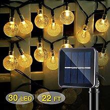 IDESION LED Solar Lichterkette mit LED Kugel 8
