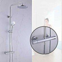 IDFRT Duschsystem Duschsäule Regendusche Kupfer
