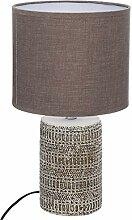 iDiffusion Lampe, Ethno-Stil, Melo, H 33 cm - Taupe