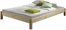 IDIMEX Futonbett Bett Einzelbett Massivholzbett TAIFUN,Kiefer, natur lackiert, 120 x 200 cm