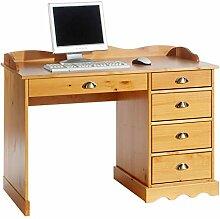 IDIMEX Schreibtisch Bürotisch, honigfarben, mit
