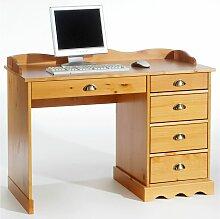 Idimex - Schreibtisch COLETTE m.Aufsatz honigfarben
