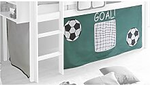 IDIMEX Vorhang Gardine Bettvorhang Fußball zu