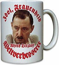 Idol, Frauenheld und Weltverbesserer! Alfred Tetzlaff ein Herz und eine Seele Alfred Humor Spaß Fun Portrait Foto - Tasse Becher Kaffee #9946