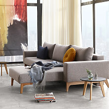Idun - Schlafsofa mit Lounger - Mixed Dance Grey