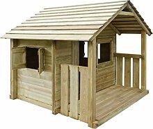 idyard Spielhaus Holz mit 3 Fenstern 204 x 204 x
