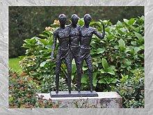 IDYL Bronze-Skulptur DREI Männer | 73x16x50 cm |
