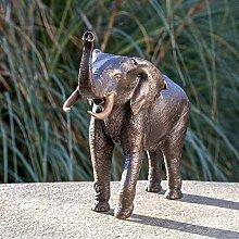 IDYL Bronze-Skulptur Elefant | 29 x 14 x 37 cm