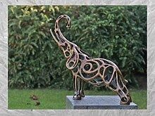 IDYL Bronze-Skulptur Elefanten | 57x21x58 cm |